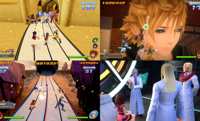 kingdom Hearts melody of memory gameplay et screen de cinematiques d histoire