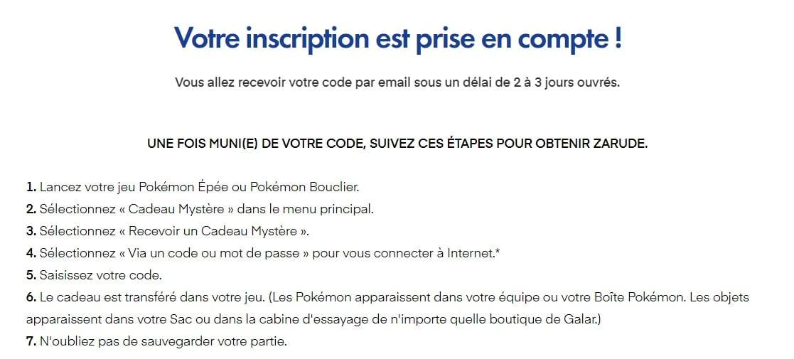 Pokémon Épée et Bouclier - Obtenir Zarude