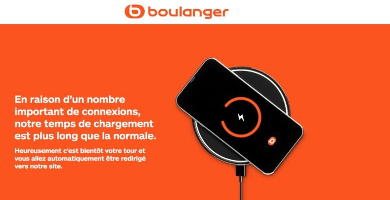 The Boulanger site on hold because of the PlayStation 5