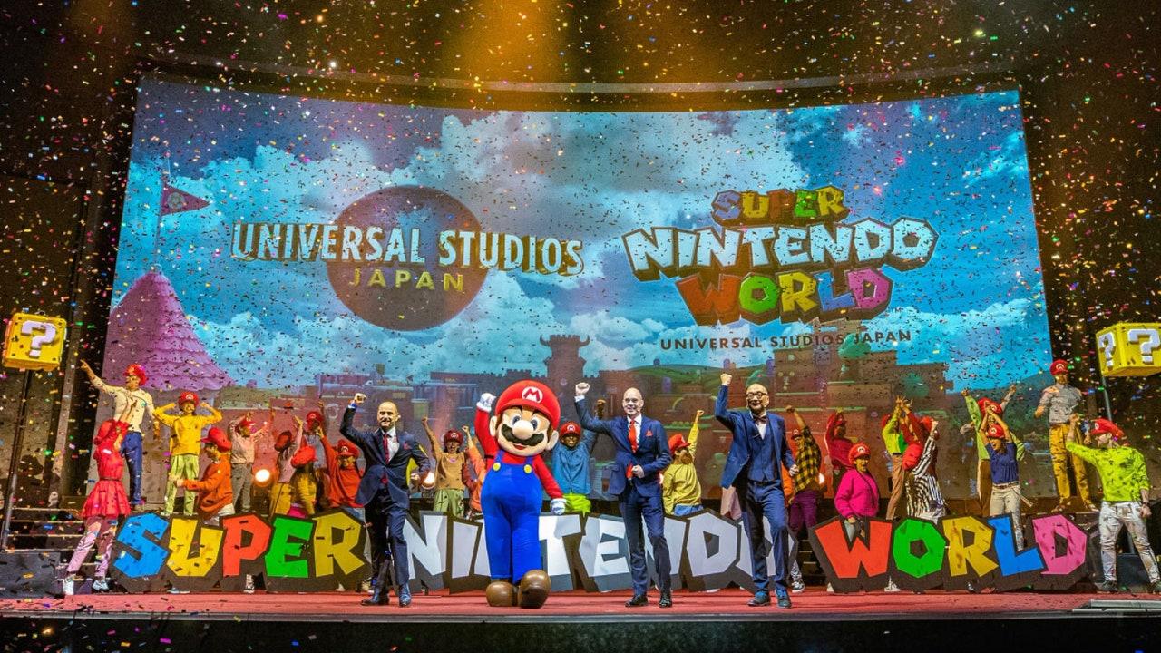 Les premières images à l'intérieur du Super Nintendo World