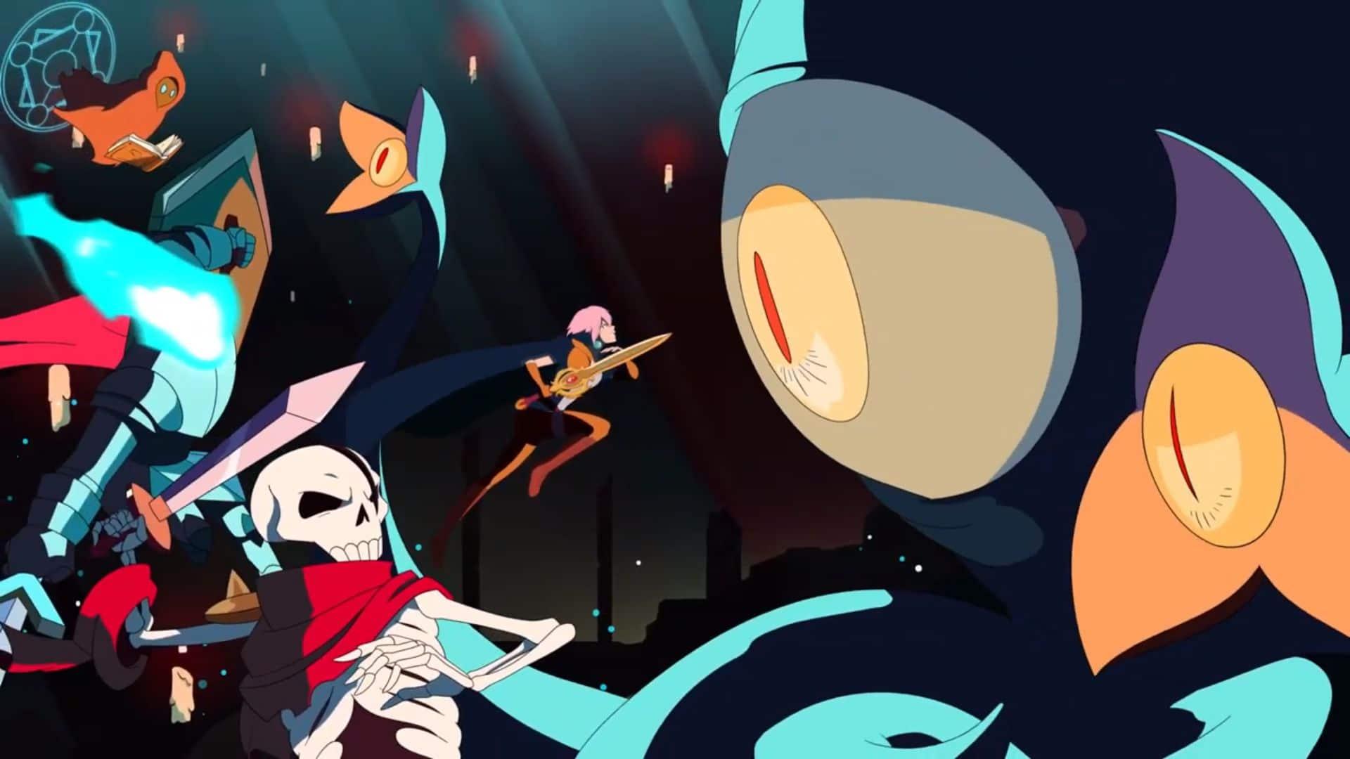 sword of the Necromancer - Tama et ses monstres face au boss