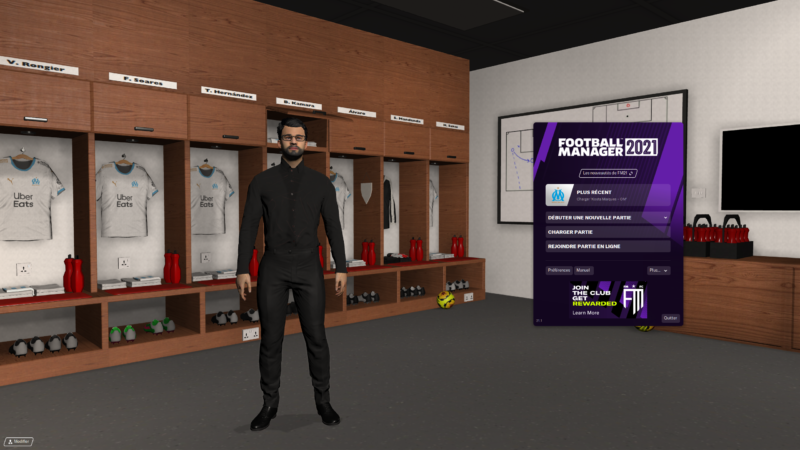Football Manager 2021 écran titre