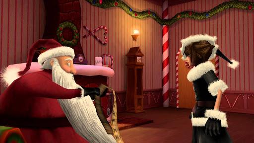 Kingdom Hearts Sora rencontre Santa
