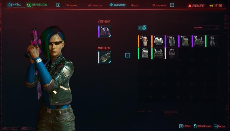 cyberpunk 2077 inventaire
