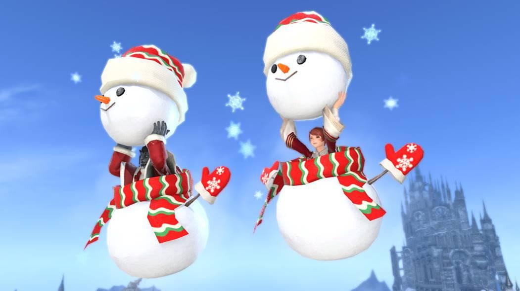 Final Fantasy XIV - Monture bonhomme de neige