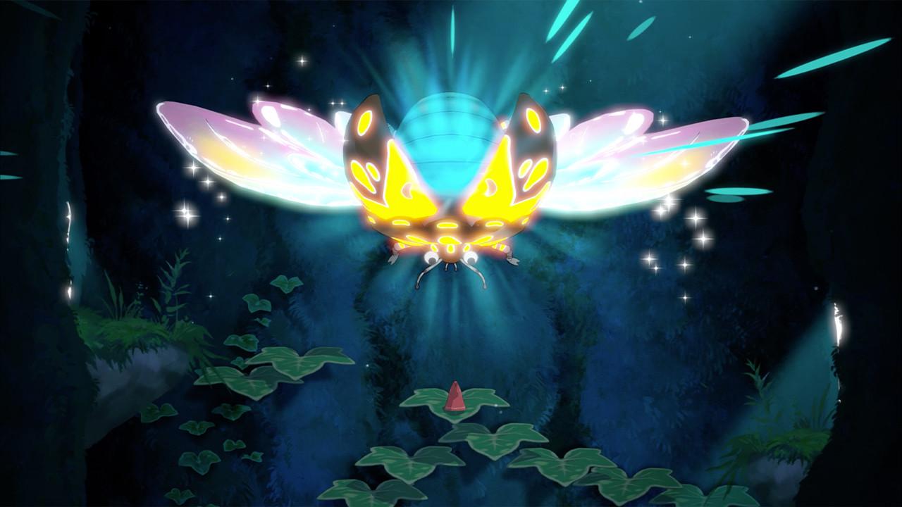 Hoa - Hoa face à un insecte fort lumineux