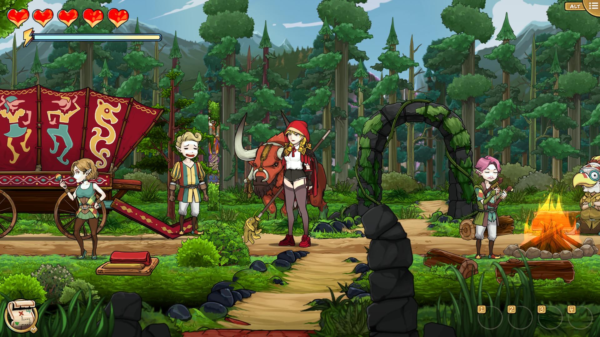 Scarlet Hood and the Wicked Wood - Scarlet rencontre une caravane elfe