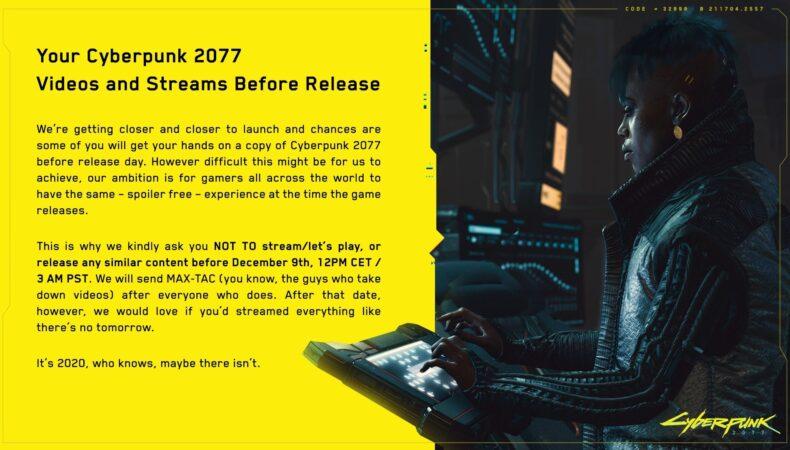 Cyberpunk 2077 nda stream