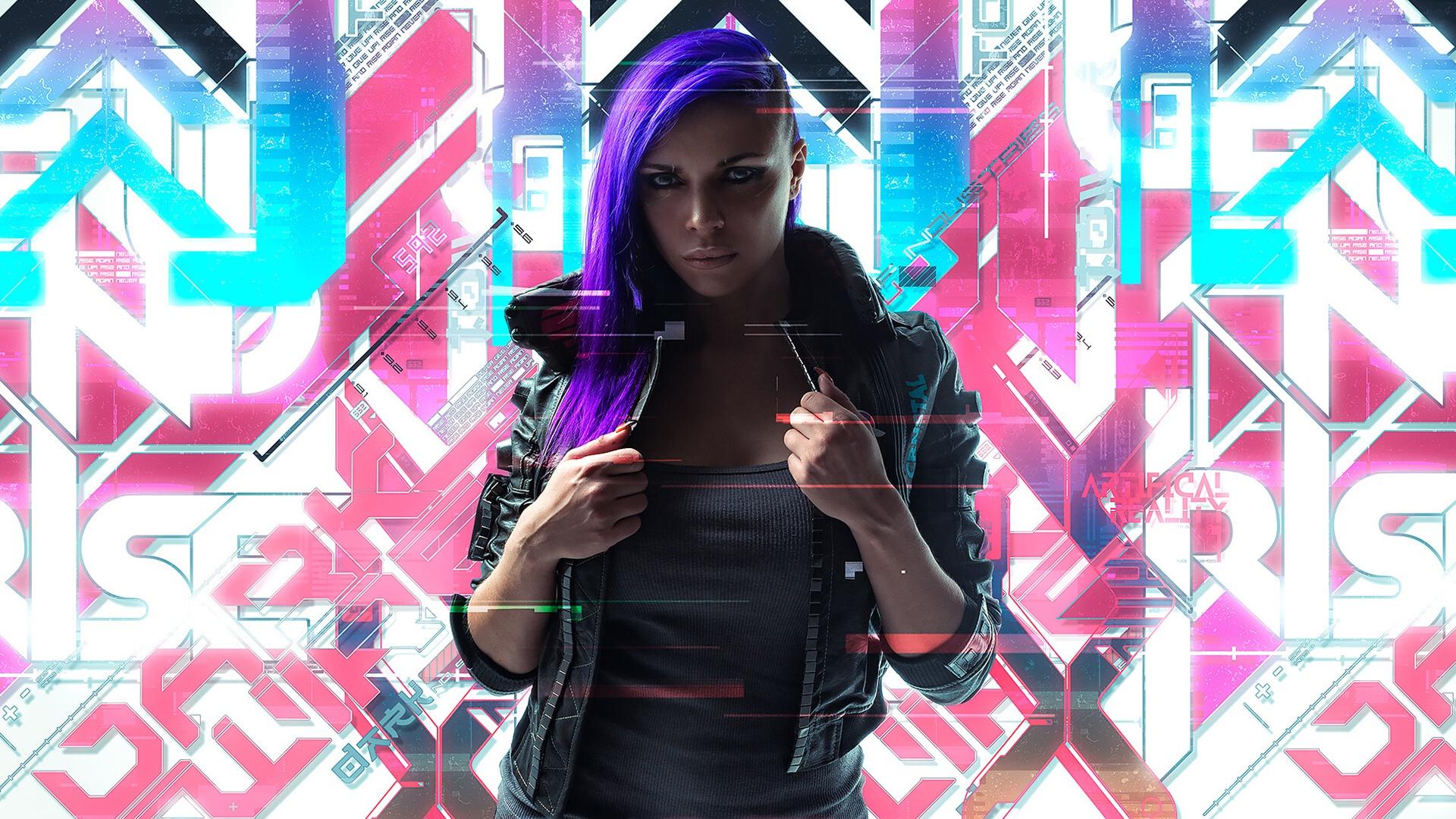 Cyberpunk 2077 street art