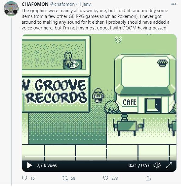 Chafomon MF Doom Game Boy Demo