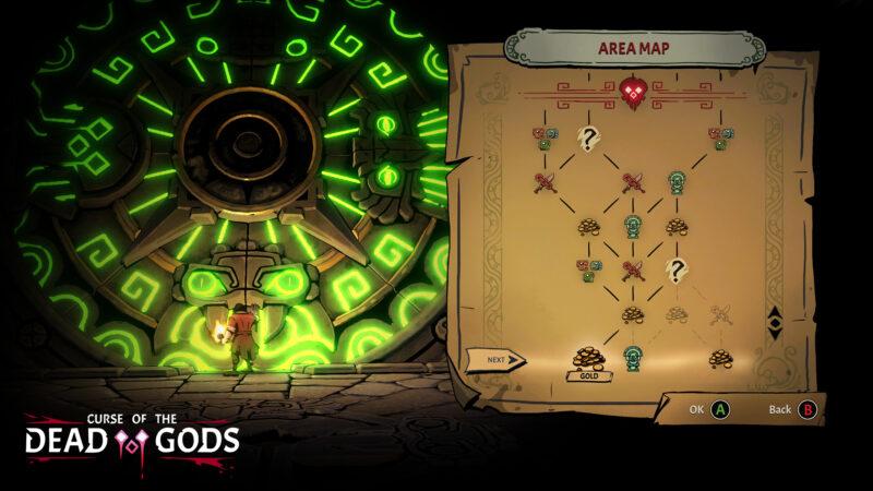 Curse of the Dead Gods - arbre de compétence en vue