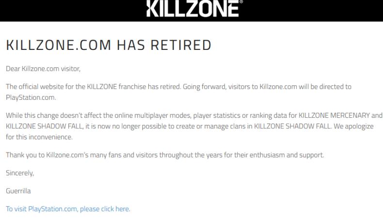 Killzone message site