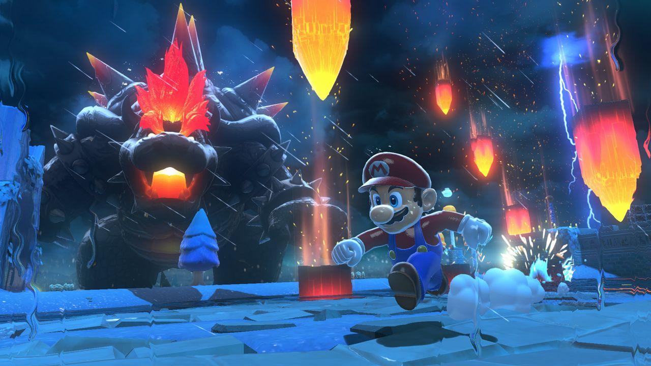 Super Mario 3D World + Bowser's Fury pluie de météorite