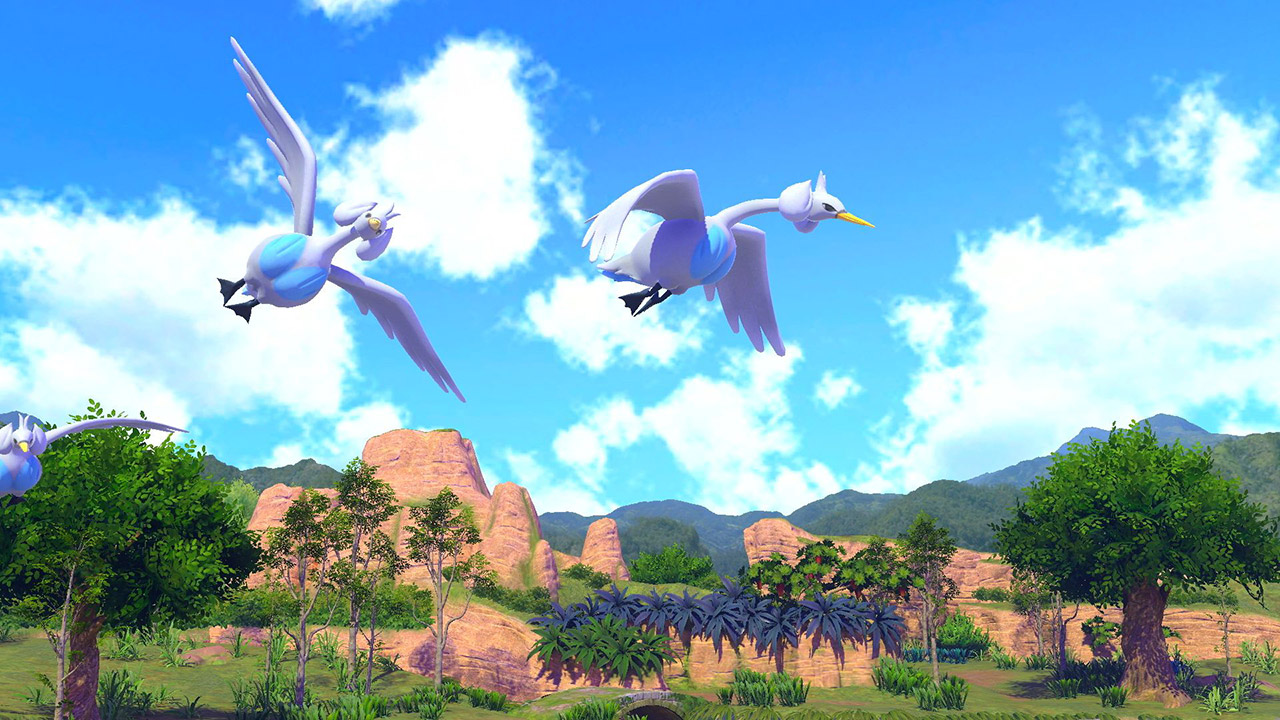 New Pokémon Snap - Lakmécygne en vol