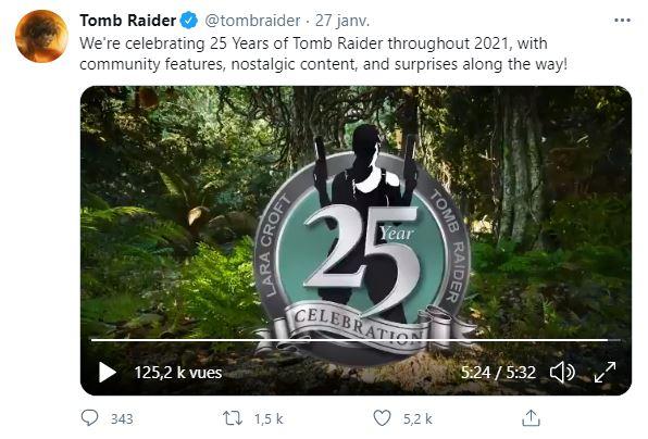 Tomb Raider Anniversaire Tweet