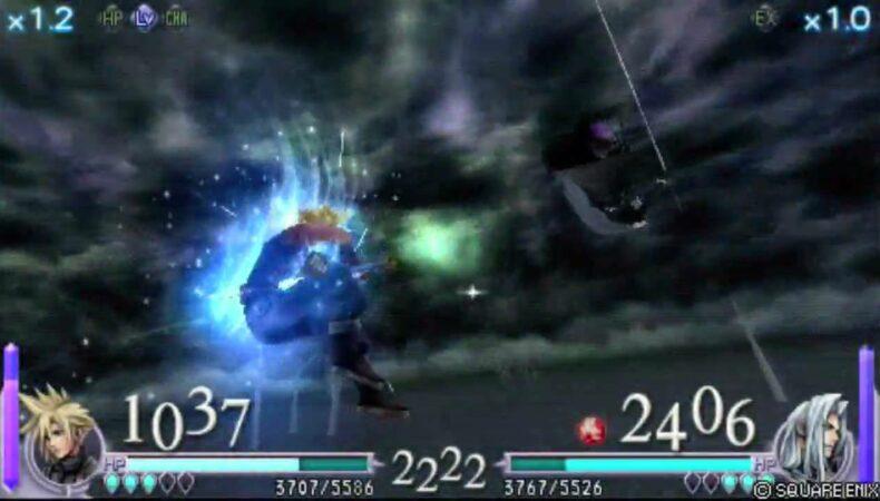 Dissidia combat entre Cloud et Séphiroth