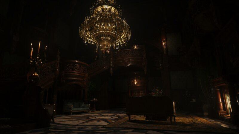 resident evil village maiden hall d'entrée