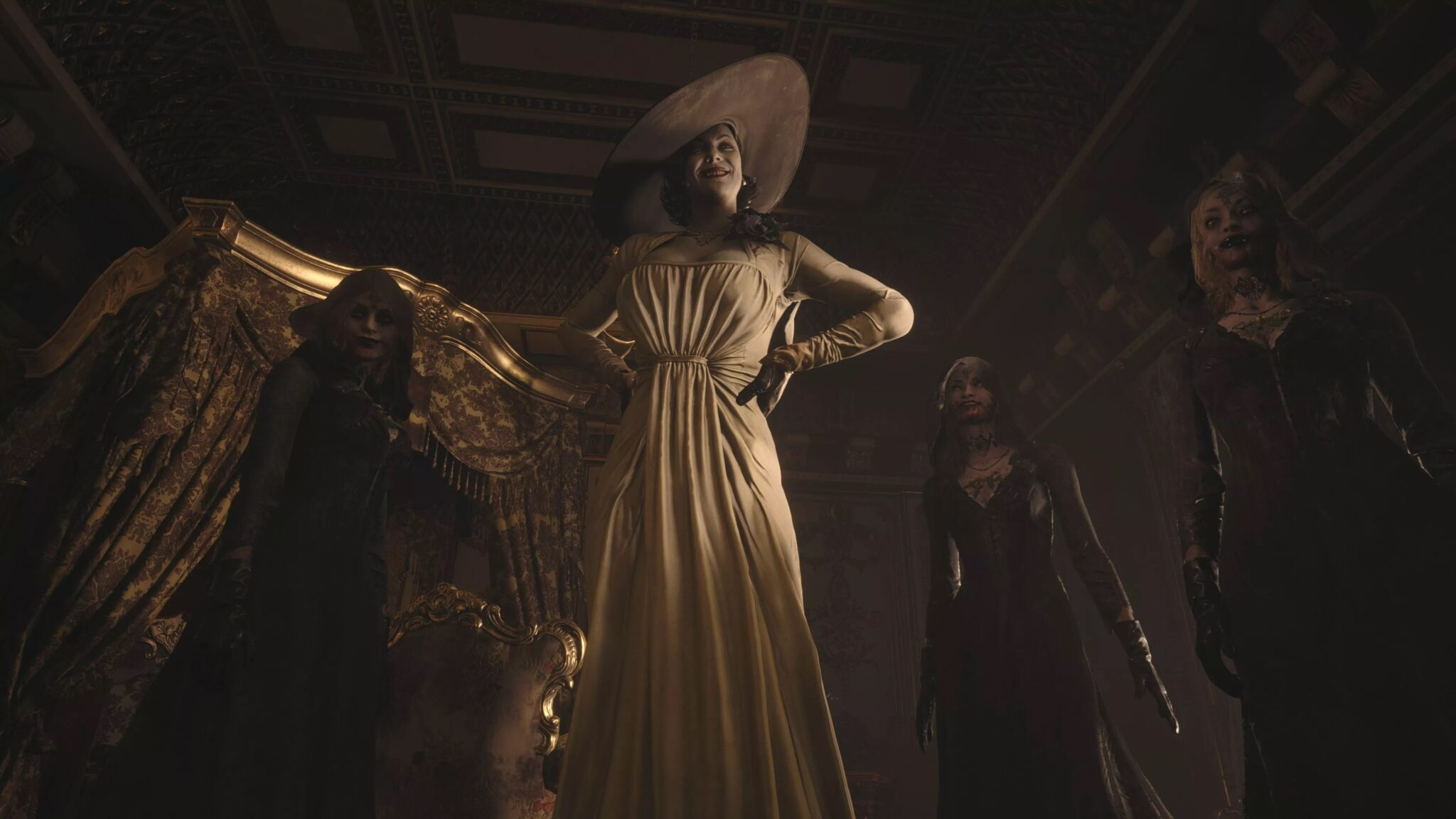 Resident Evil Village lady dimitrescu et soeurs