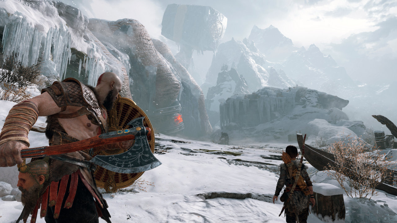 God of War - Kratos fait du ski