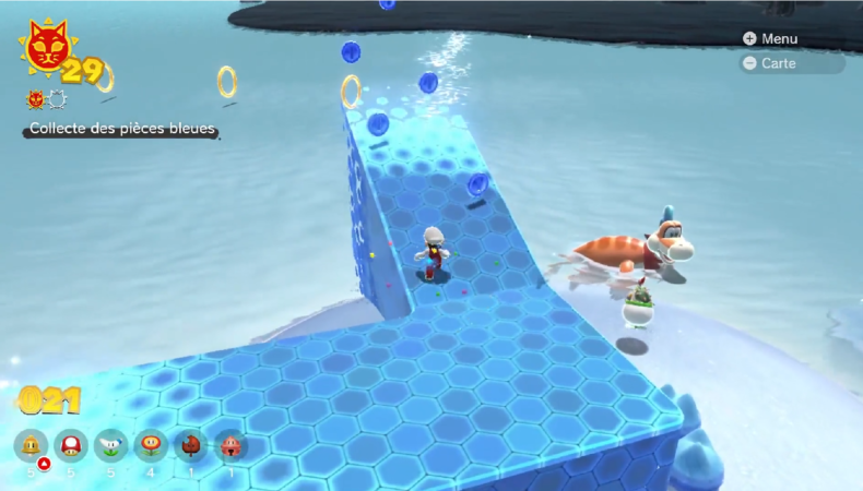 Bowser's fury Pièce invisible