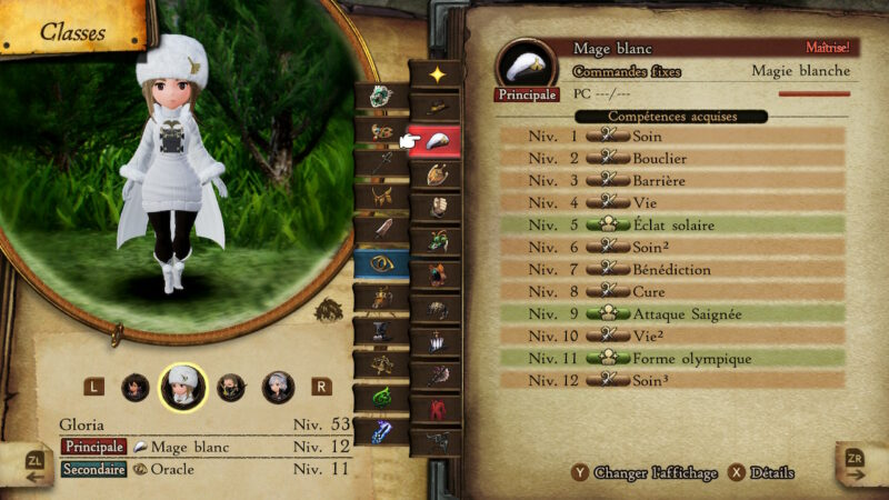 Bravely Default II - Mage Blanc