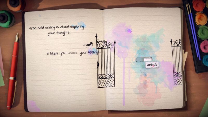 Lost Words journal unlock