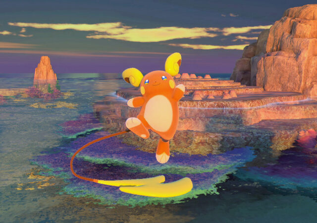 New Pokémon Snap - Raichu Alola au crépuscule