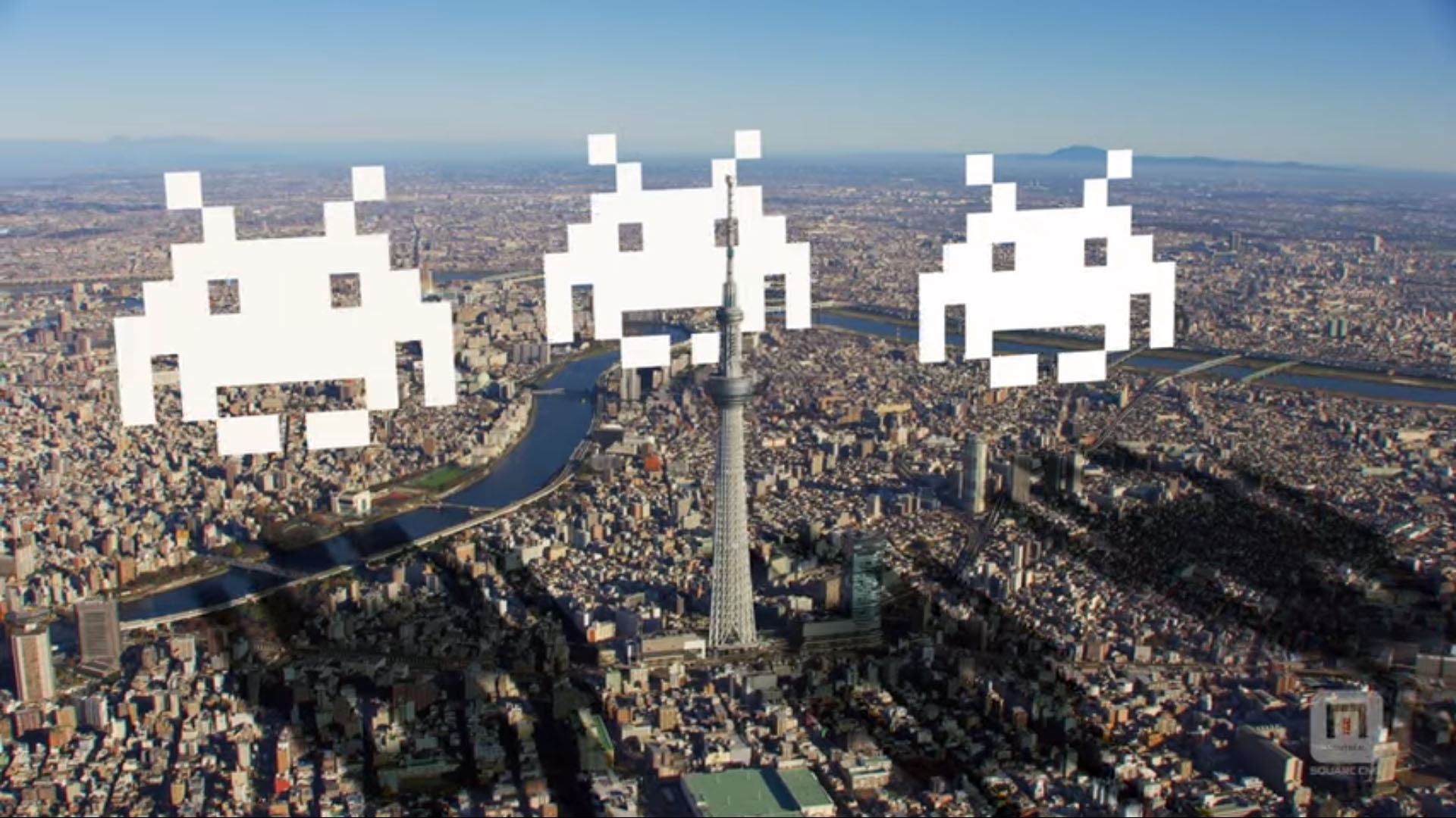 Space Invaders AR Tokyo Skytree