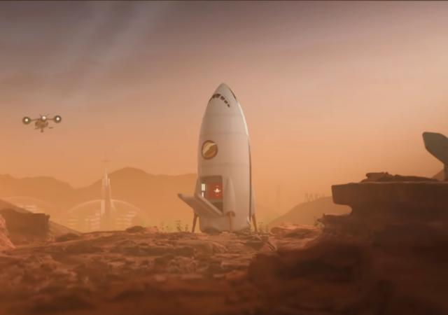 Surviving Mars vaisseau touriste