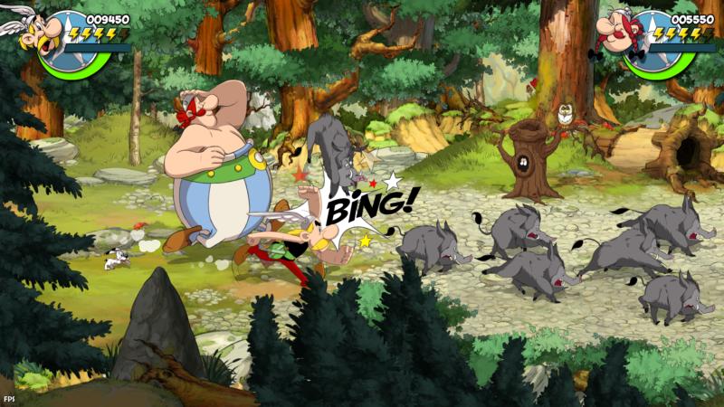 Astérix & Obélix : Baffez-les Tous ! bagarre sangliers