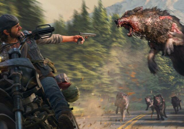 Days Gone attaque loup zombie