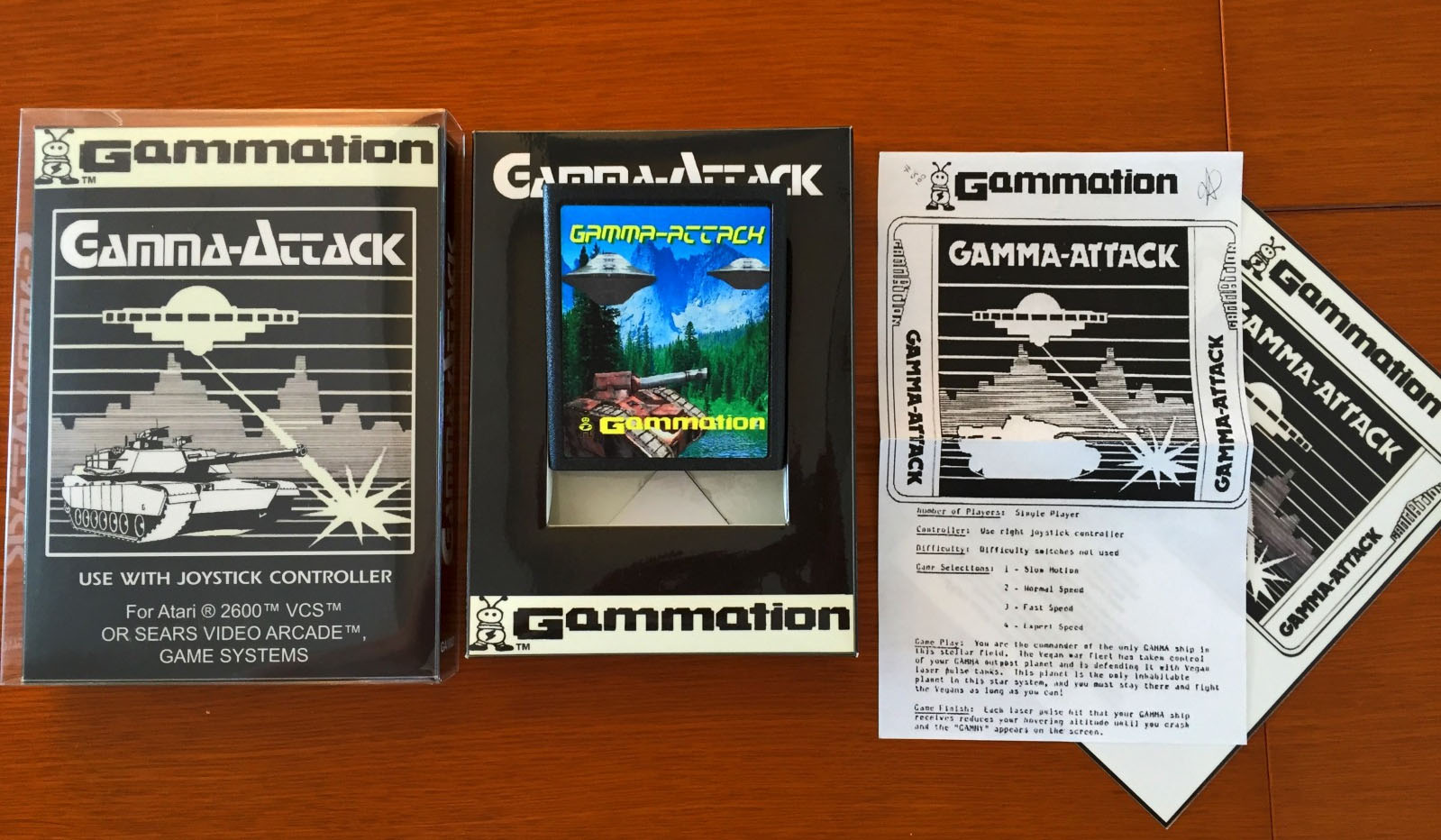 Gamma Attack jeu rare collections
