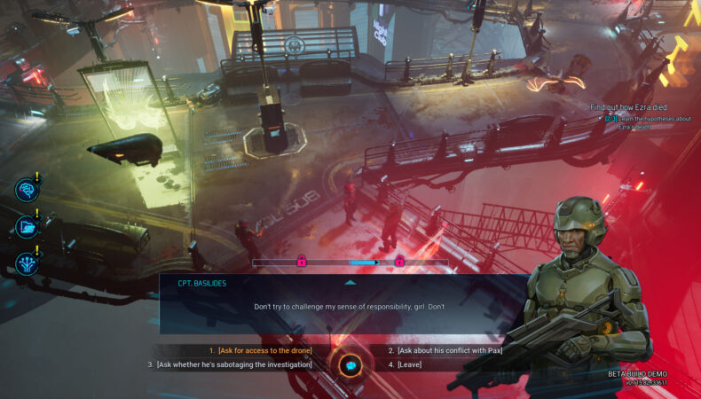 Gamedec multiple choice dialogs