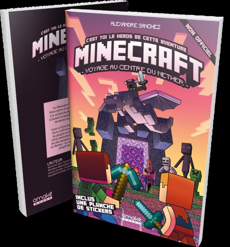 Minecraft : Voyage au centre du Nether modèle bouquin