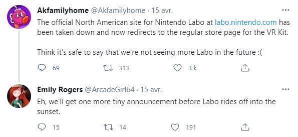 tweet Nintendo Labo