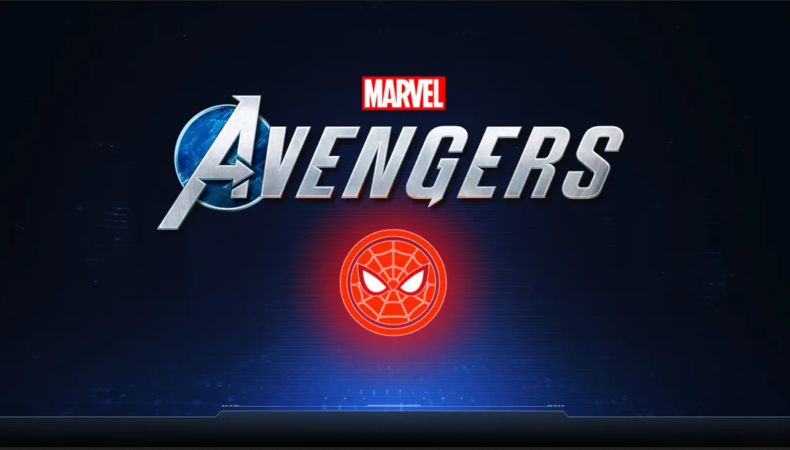 Marvel's Avengers logo spider man