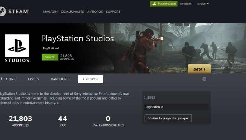 PlayStation Studios Steam PC
