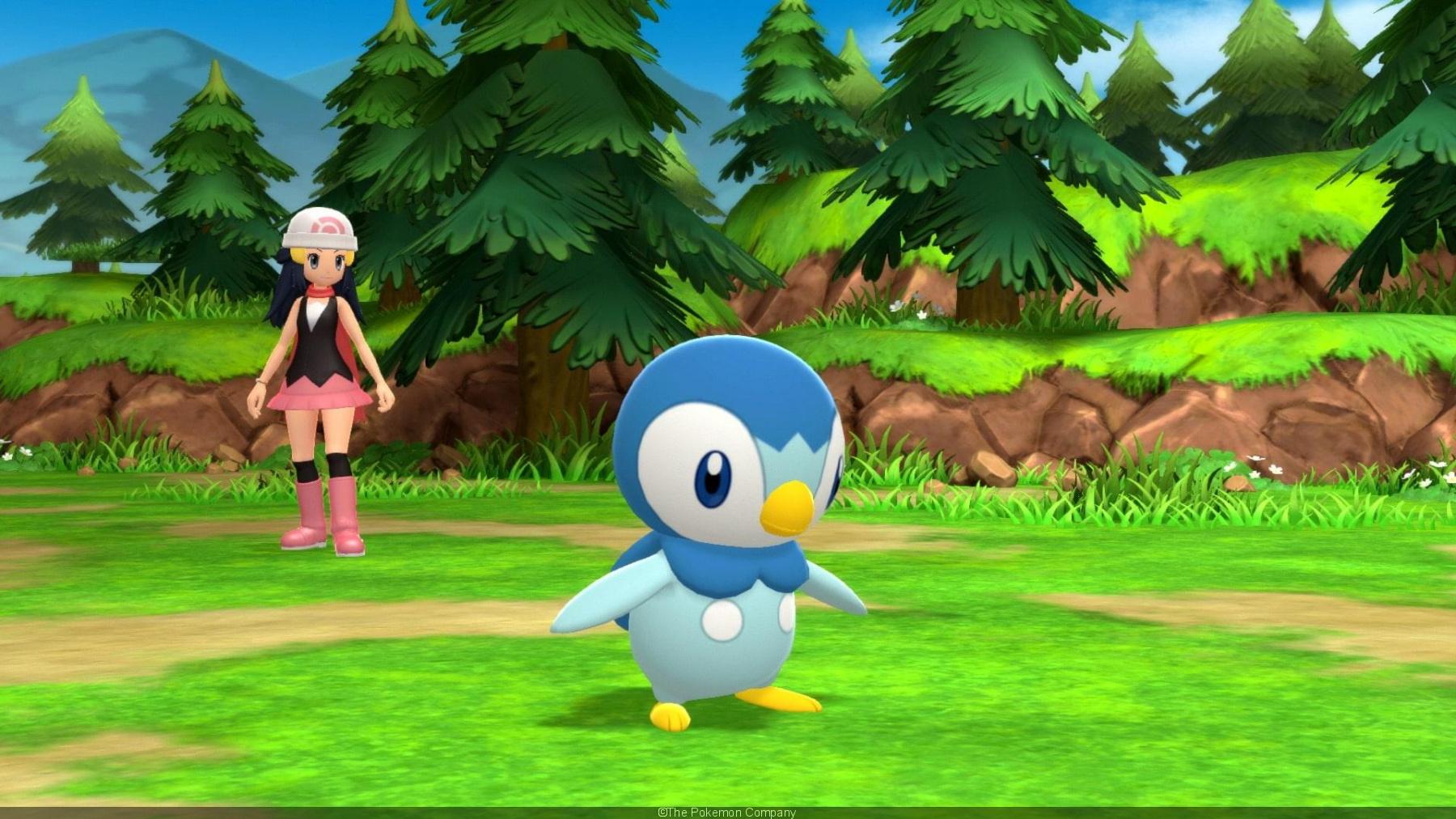Pokémon Diamant Étincelant et Perle Scintillante - Tiplouf et Aurore