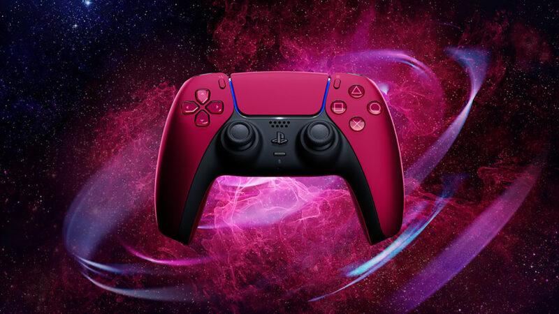 dualsense cosmic red art