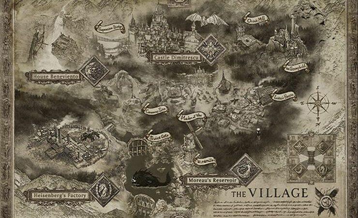 resident evil village map