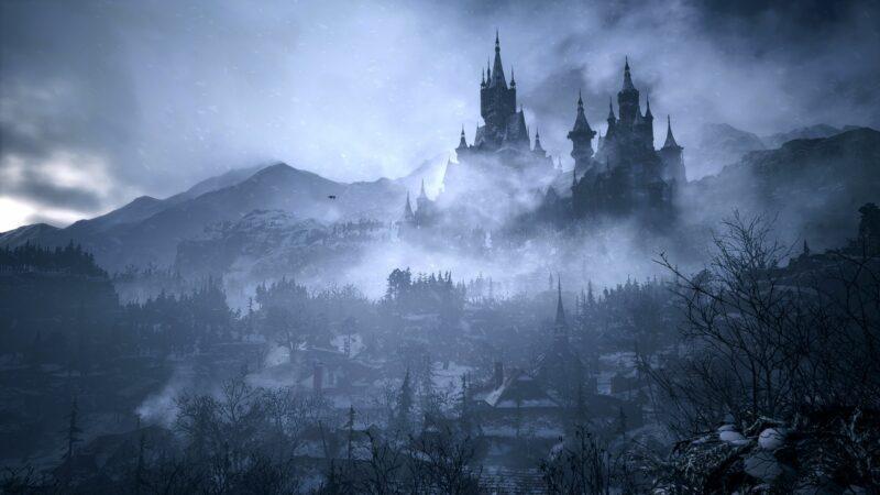 Resident Evil Village chateau neige