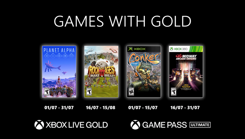 Games with gold juillet 2021