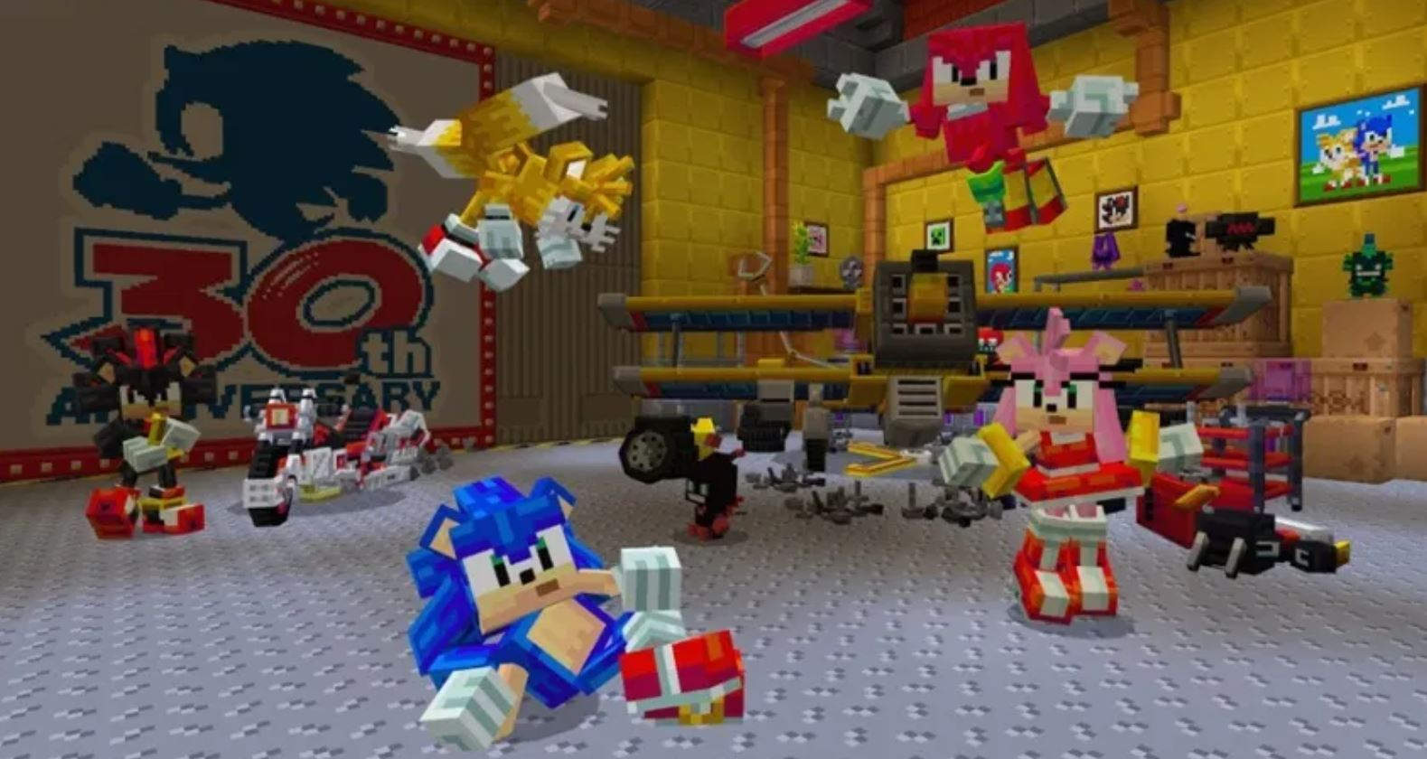 Minecraft Sonic DLC Screenshot