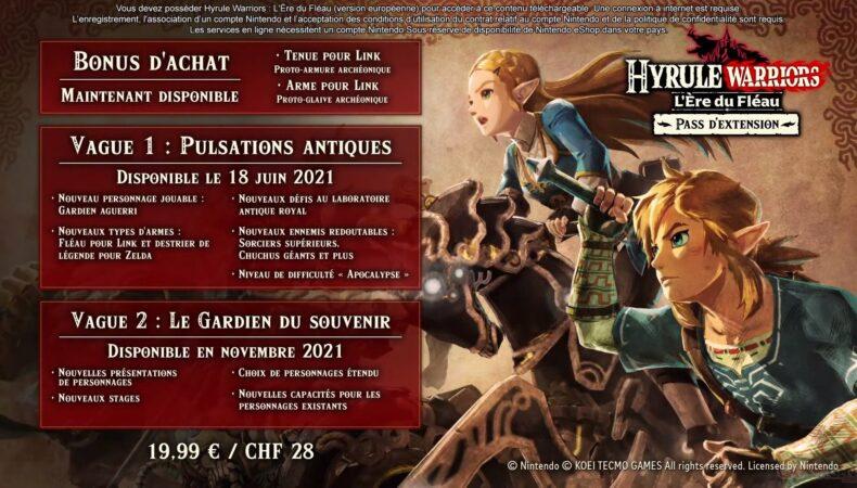 Hyrule Warriors: l'ère du fléau détails pass