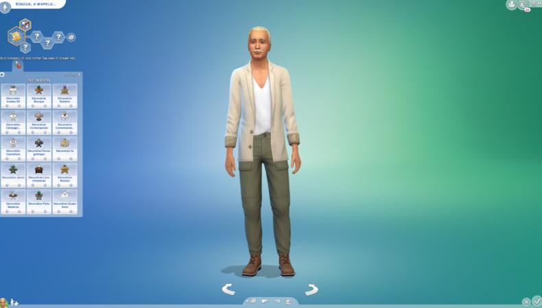 Les Sims 4 Décoration d'intérieur caractère
