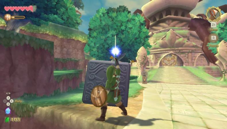 The Legend of Zelda : Skyward Sword HD cube déesse temple de la contemplation