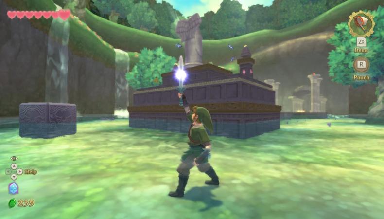 The Legend of Zelda : Skyward Sword HD cube déesse autel