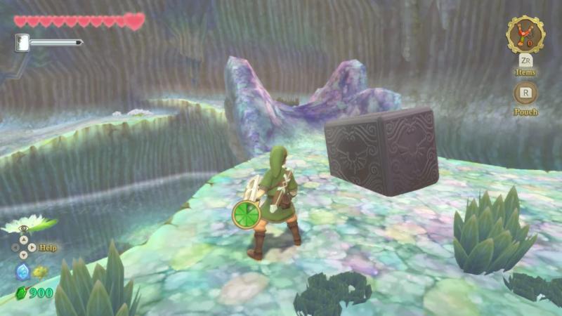 The Legend of Zelda : Skyward Sword HD cube déesse lac faroria