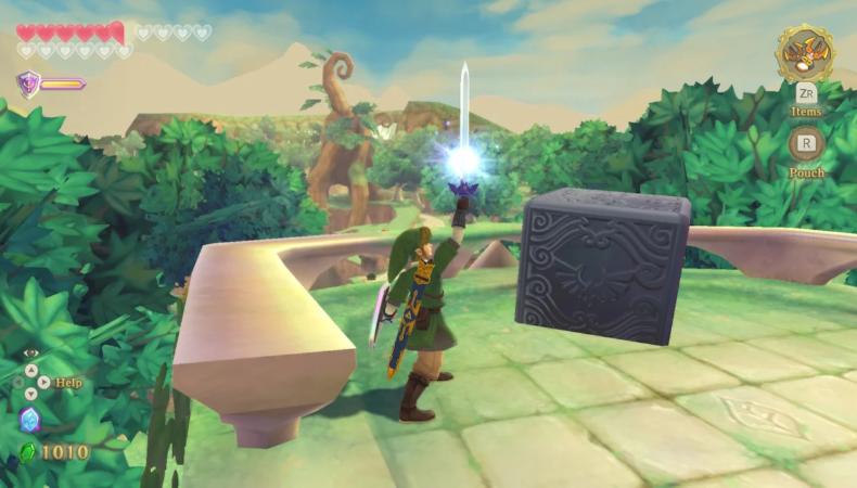 The Legend of Zelda : Skyward Sword HD cube déesse lierre