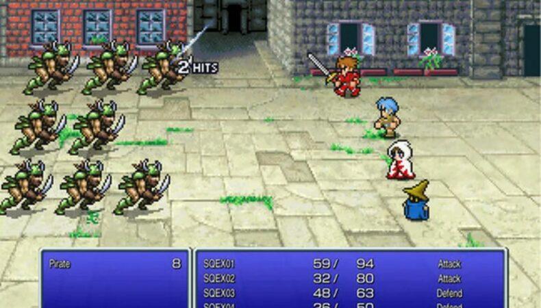 Final fantasy Pixel remaster screen fight